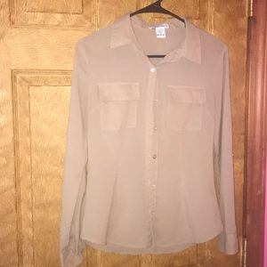 Body Central polyester button up blouse